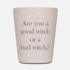 Good Witch Bad Witch.gif Shot Glass