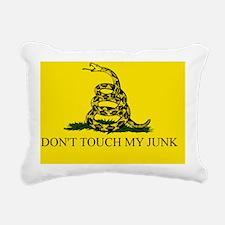 Gadsden Flag - DONT TOUC Rectangular Canvas Pillow