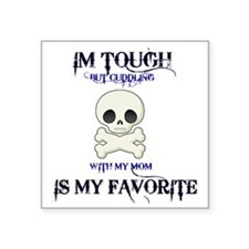 "skull Square Sticker 3"" x 3"""