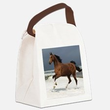 brown horse Canvas Lunch Bag