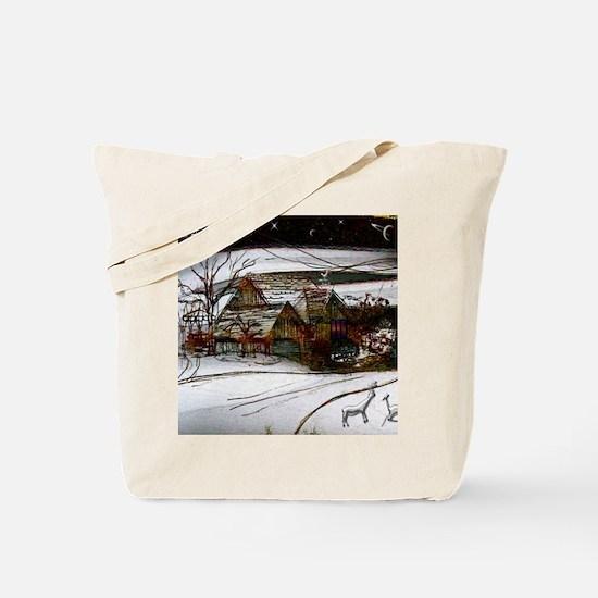 country home Christmas edit Tote Bag
