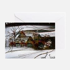 country home Christmas edit Greeting Card