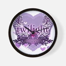 twilight forever purple heart copy Wall Clock