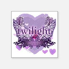 """twilight forever purple hea Square Sticker 3"""" x 3"""""""