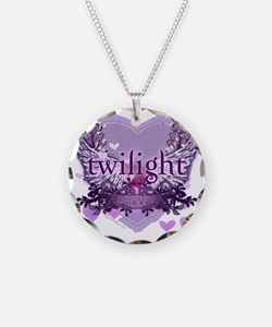 twilight forever purple hear Necklace