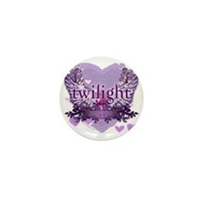 twilight forever purple heart copy Mini Button