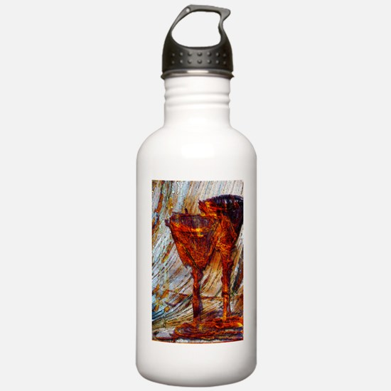 Wine Glasses Abstract  Water Bottle