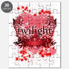 twilight red heart christmas stocking copy Puzzle