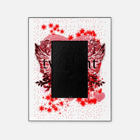 twilight red heart christmas stockin Picture Frame