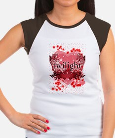 twilight red heart chri Women's Cap Sleeve T-Shirt