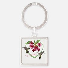 2.75X2  clear Square Keychain