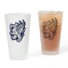 Grey Warden Griffin Drinking Glass