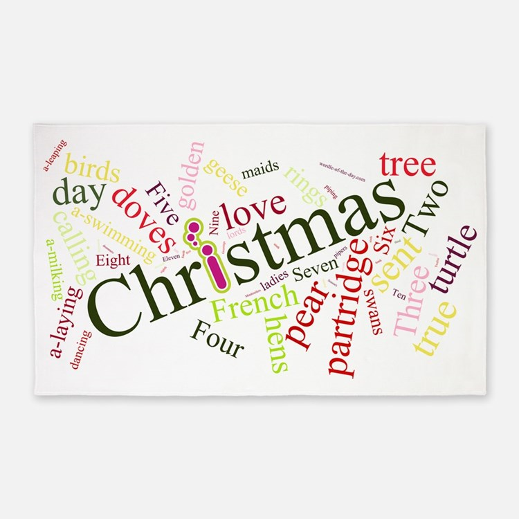 xmas-wordle-2010-fullres 3'x5' Area Rug
