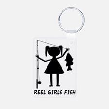 reel girls fish Keychains