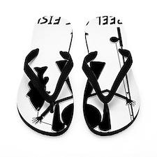 reel girls fish Flip Flops