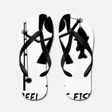 reel girls fish Flip Flops