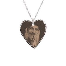 Osho hand prayer 4 Necklace Heart Charm