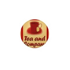 Tea and Company greeting card Mini Button