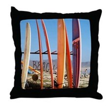 Cerritos Beach Throw Pillow