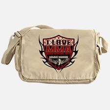 SHIELD RED-BLACK Messenger Bag