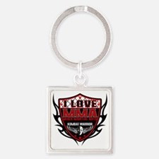 SHIELD RED-BLACK Square Keychain