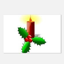 Advent Candle with Holly Postcards (Package of 8)
