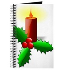 Advent Candle with Holly Journal