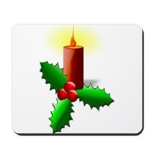Advent Candle with Holly Mousepad