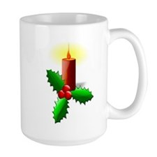 Advent Candle with Holly Mugs