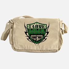 SHIELD GREEN-BLACK Messenger Bag