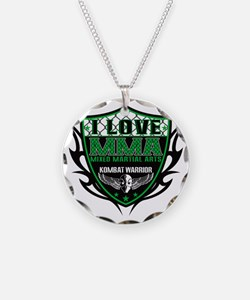 SHIELD GREEN-BLACK Necklace