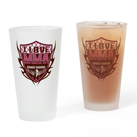 SHIELD PINK-BROWN Drinking Glass