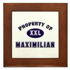 Property of maximilian Framed Tile