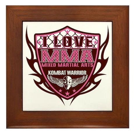 SHIELD PINK-BROWN Framed Tile