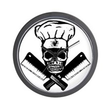 Chef_Skull_HCBW Wall Clock