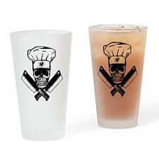 Chef_Skull_HCBW Drinking Glass