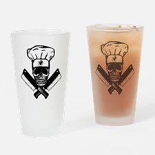Chef_Skull_HCBW Drinking Glass