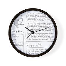 squirrel dates Wall Clock