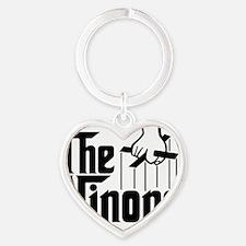 theninong_BlkCPDark Heart Keychain