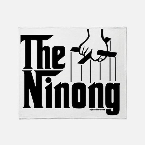 theninong_BlkCPDark Throw Blanket