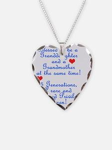 5 gen grandma granddaughter Necklace