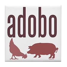 adobo3brown_CPDark Tile Coaster