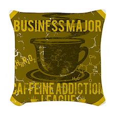 BUSINESS MAJOR Woven Throw Pillow