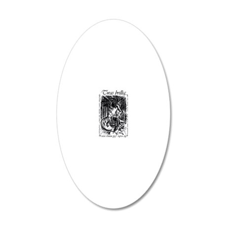 TwasBrilling-iPhone3G 20x12 Oval Wall Decal