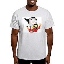 Shark Attack Ash Grey T-Shirt