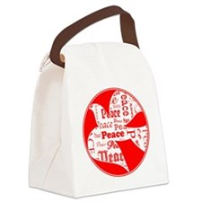 Peace-Dove-red Canvas Lunch Bag