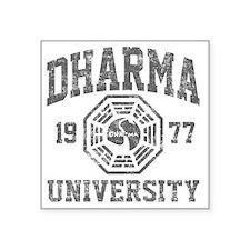 """Dharma Univ Square Sticker 3"""" x 3"""""""