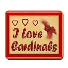 I Love Cardinals notecard Mousepad