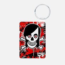3GiPhone-EmoGirlSkull Keychains
