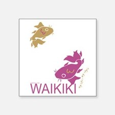 "Lucky Fish Square Sticker 3"" x 3"""